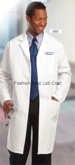 Fashion Seal 433 Mens Knee Length Lab Coat