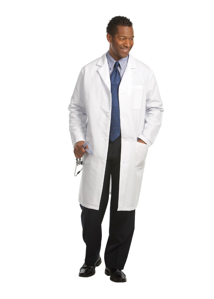 Fashion Seal 481 Men's Knee Length Lab Coat